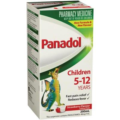 Children 5-12 Panadol 200ml - Strawberry