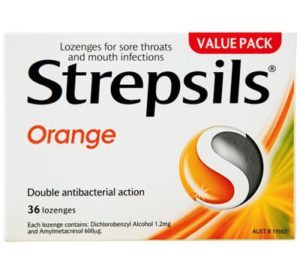 Strepsils Packet 36 Lozenges Orange