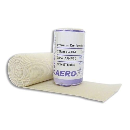 Premium Heavy Weight Conforming Bandage 7.5cm X 4.5m Wrap of 12