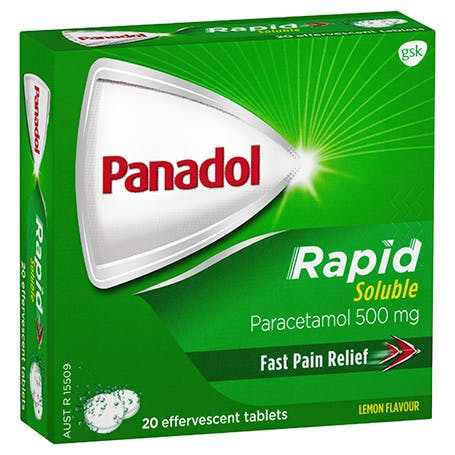 Panadol Rapid Soluble Tab 500mg 20pack