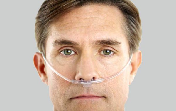 nasal cannula in use