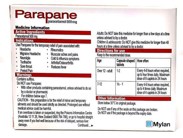 parapane back
